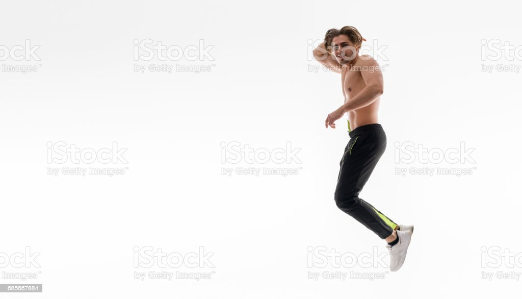 裸體的英俊男人肖像 免版稅 stock photo