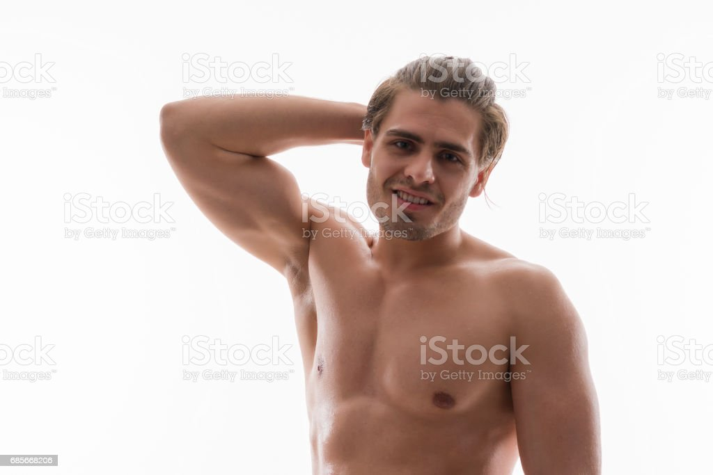 Naked Handsome Man Portrait Royalty Free Stock Photo