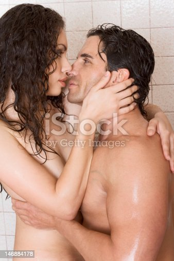 naked man and woman make love