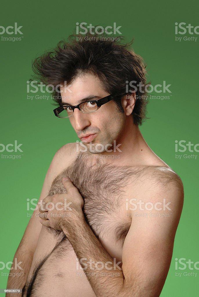 Naked Nerd royalty-free stock photo