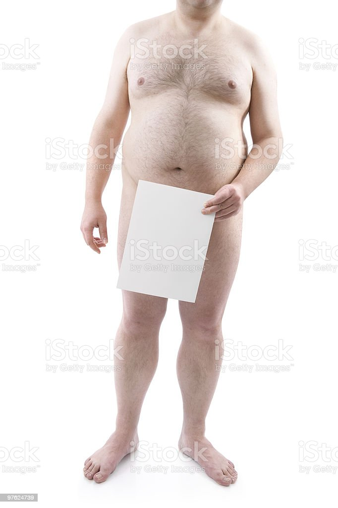 naked overweight man royalty-free stock photo