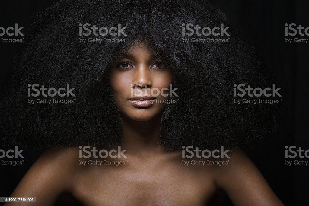 Naked woman, close-up, portrait royalty-free stock photo