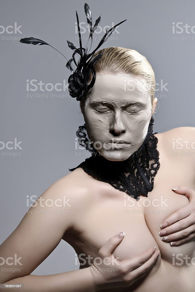 naked woman stock photo