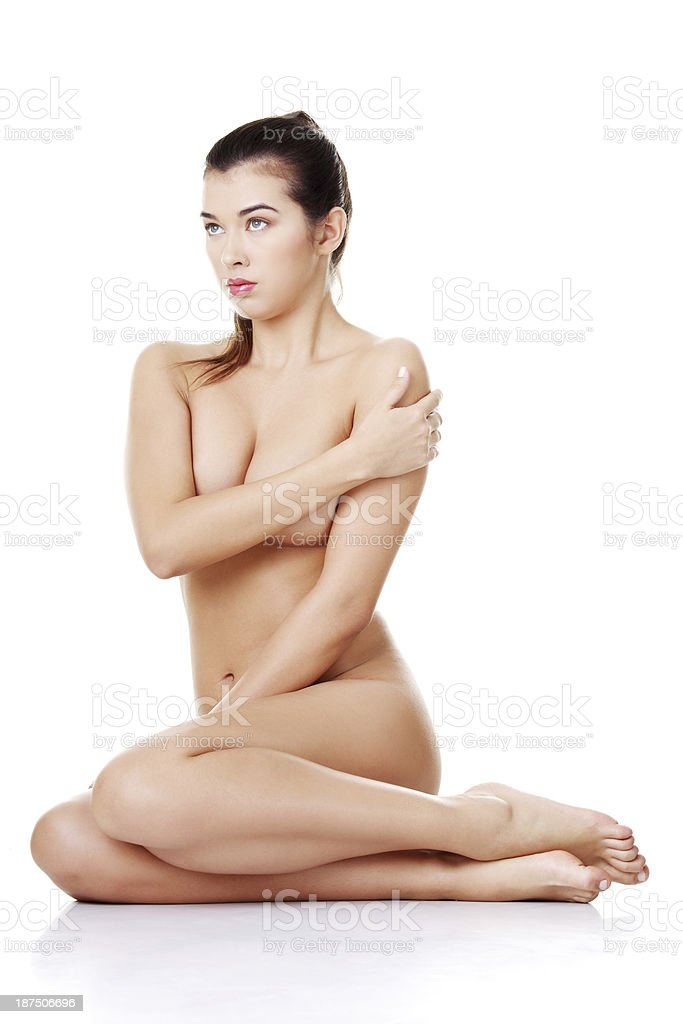 Naked Woman Sitting Front View Stock Photo - Download -3830