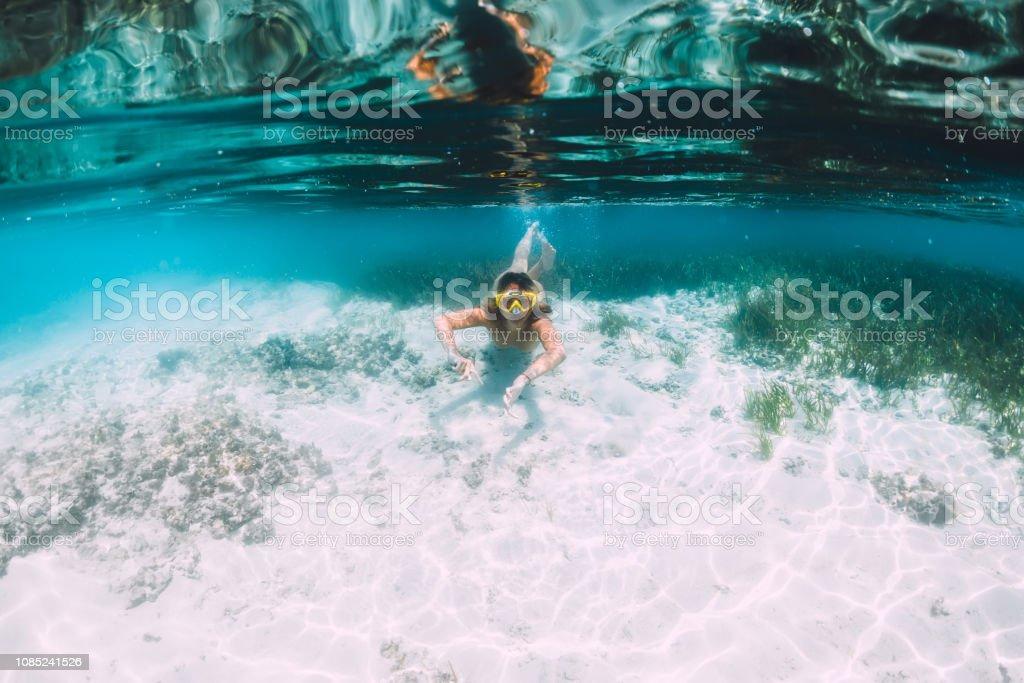nackt nude topless schwimmen frau frau