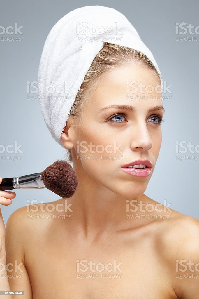 Close Up Portrait Of Beautiful Young Naked Girl Stock