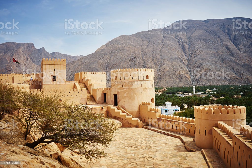 Nakhal Fort in Oman stock photo
