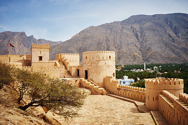 nakhal fort in oman - oman 個照片及圖片檔