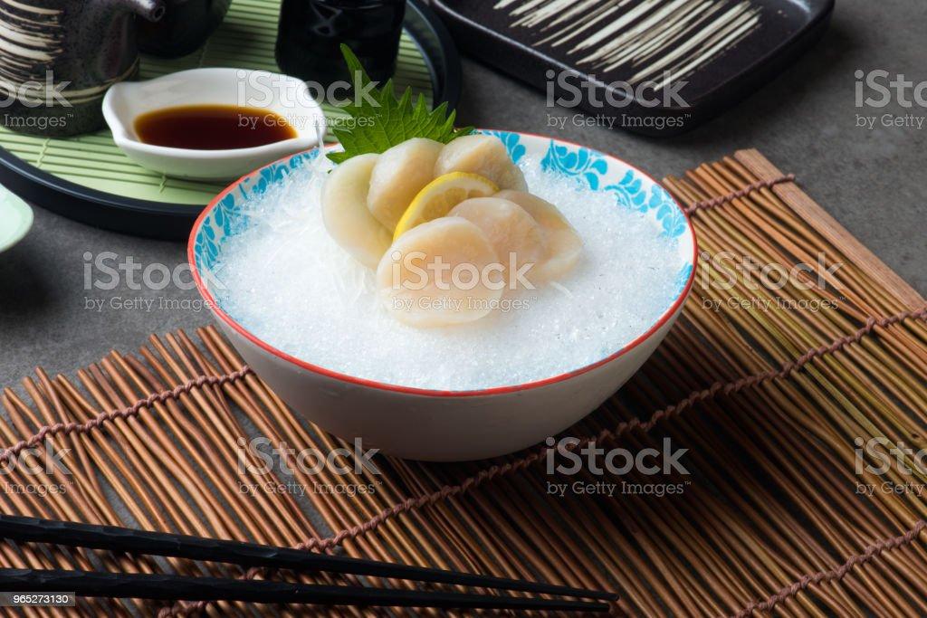 nama hotate fresh scallop shashimi sushi zbiór zdjęć royalty-free