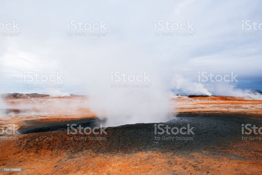 Namafjall hverir geothermal area, Iceland stock photo