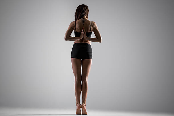 geste namaste - gymnastik tattoo stock-fotos und bilder