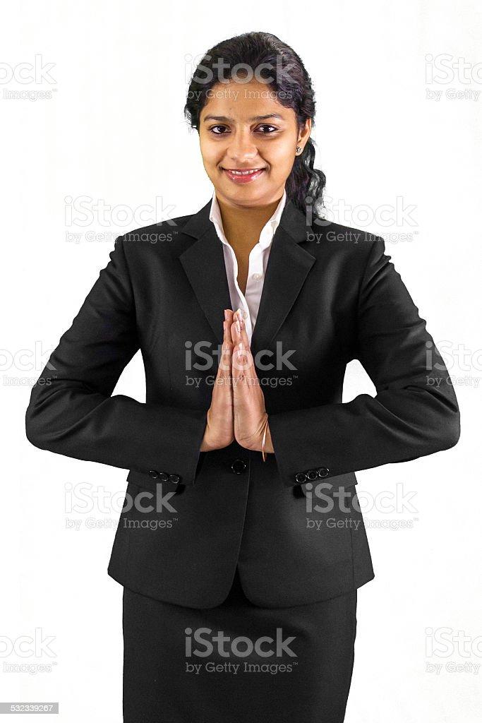 Namaste Ji stock photo