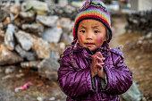 istock Namaste! Portrait of Tibetan little boy,  Mount Everest National Park, Nepal 1222357131