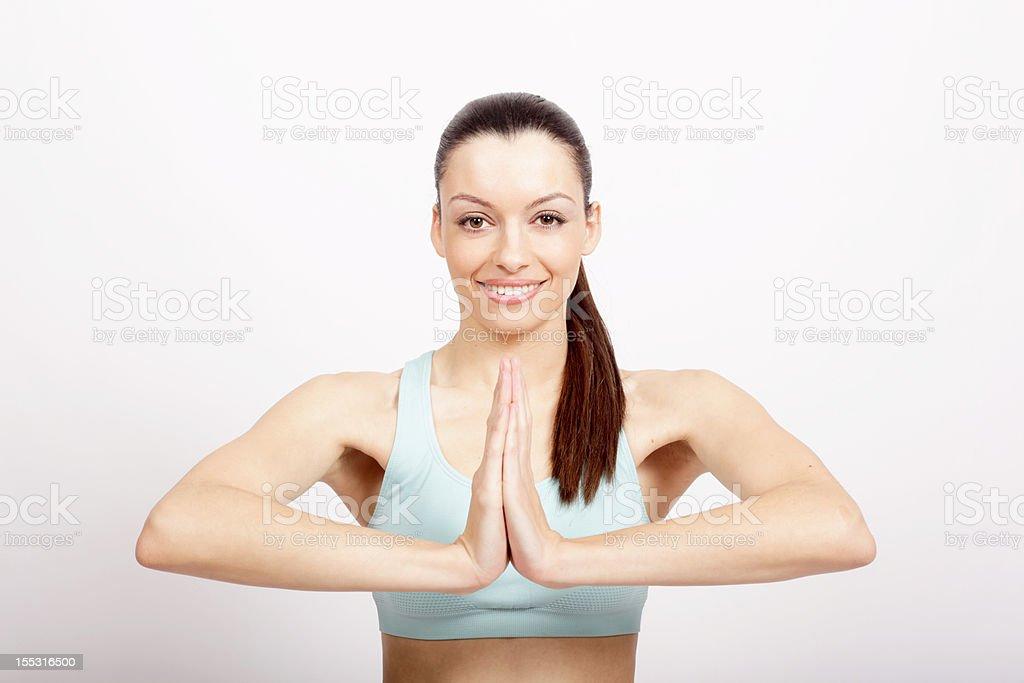 Namaste salutation royalty-free stock photo