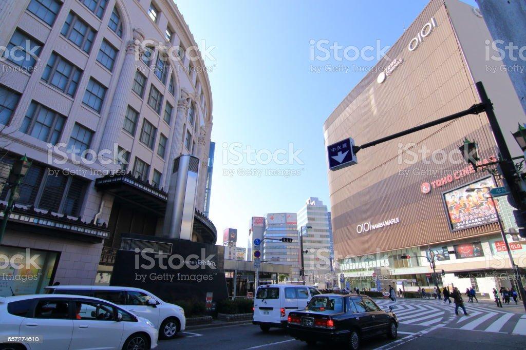 Namba Osaka cityscape stock photo