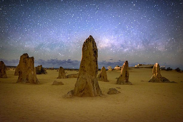 Nambung Milkyway stock photo