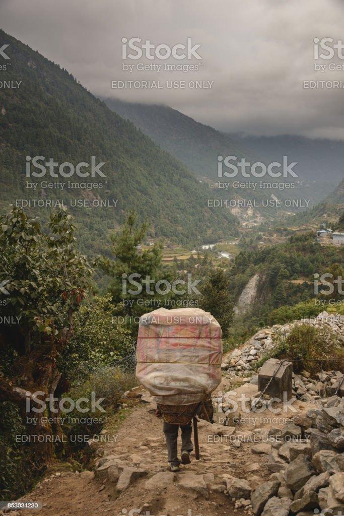 Namche Sherpa stock photo