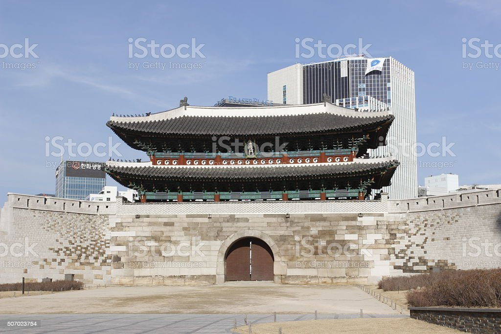 Namdaemun gate architecture tourism in city stock photo