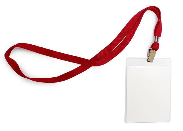 Namensschild mit roten Spitze – Foto