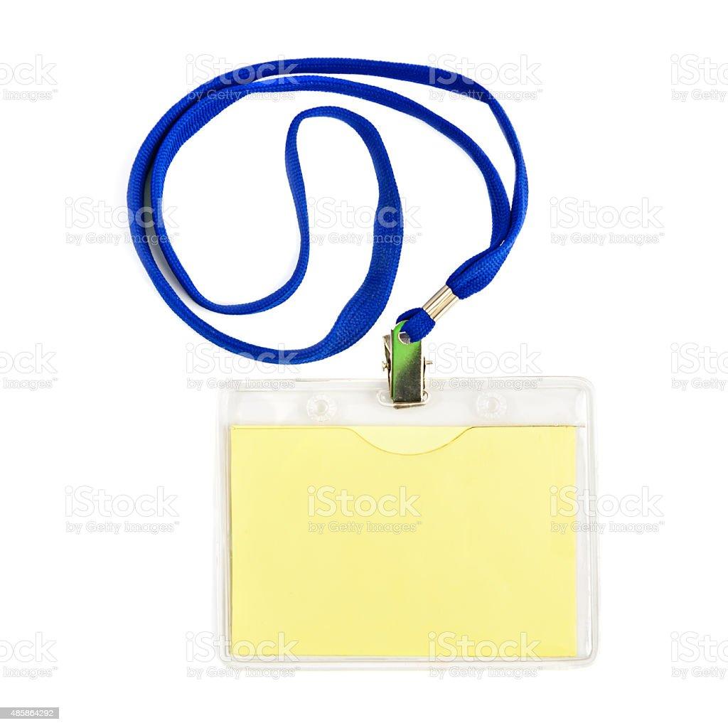 Name id card badge stock photo