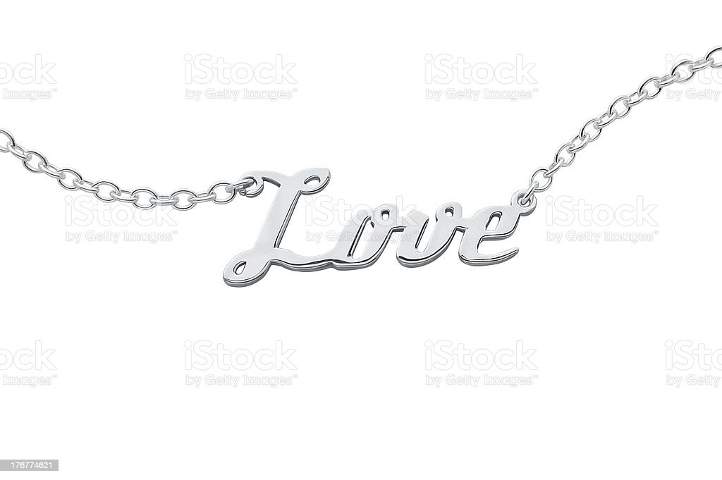 Name Necklace Love pendant royalty-free stock photo