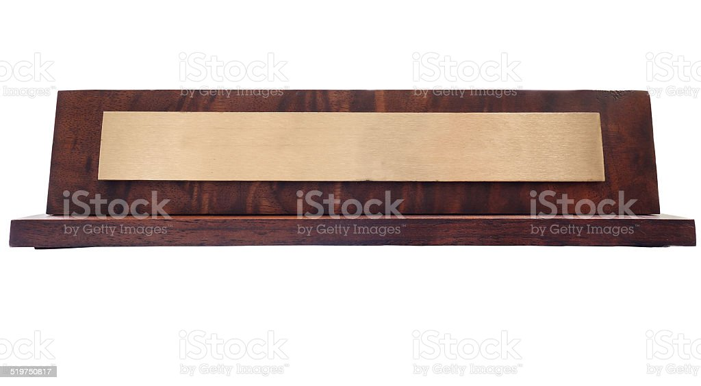 Name plate stock photo
