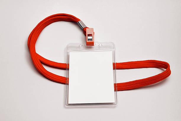 Tarjeta de nombre con cuerda Mockup-Imagen de Stock - foto de stock