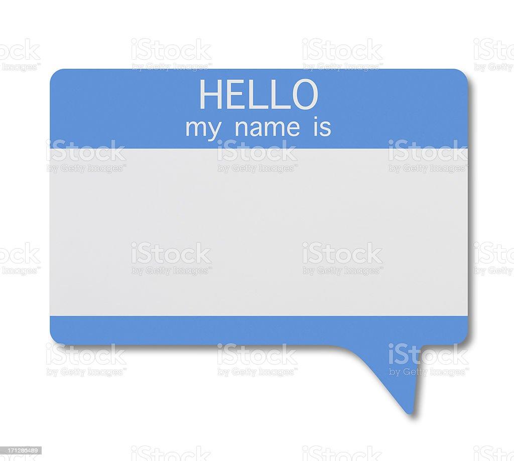 Name Tag(Speech Bubble) royalty-free stock photo