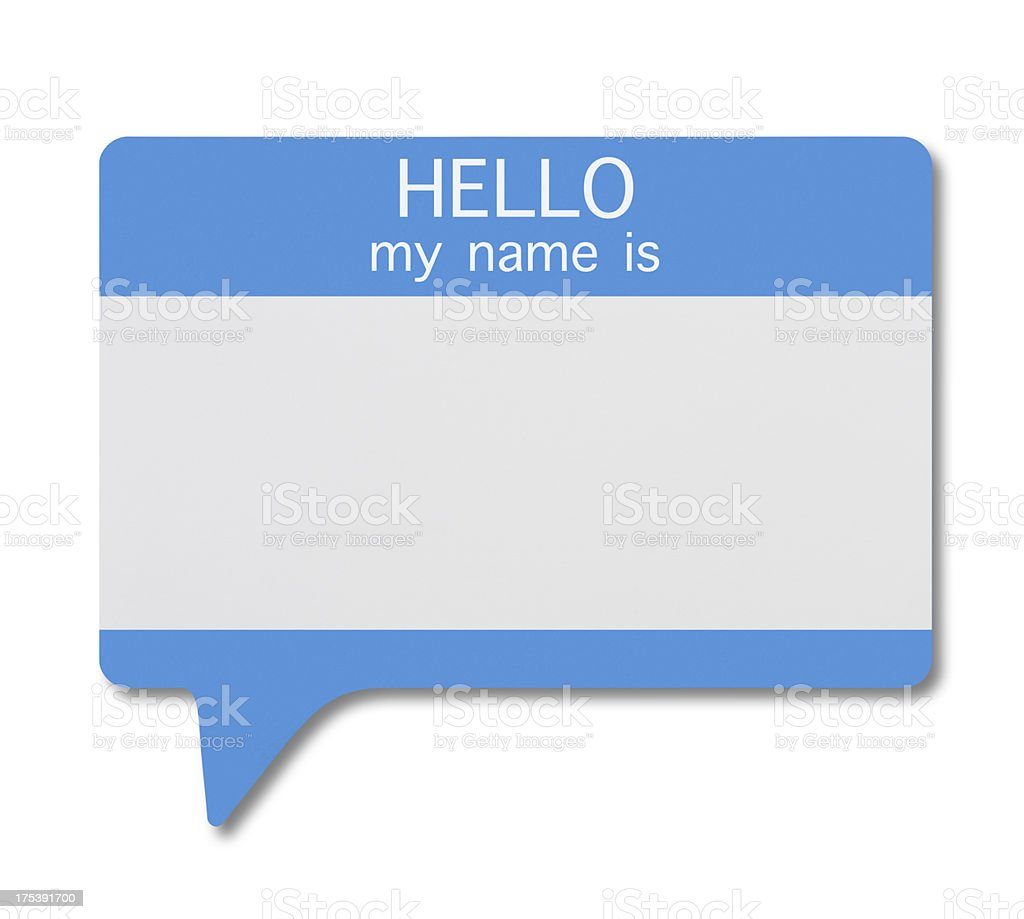 Name Tag(Speech Bubble) royalty-free stock photo