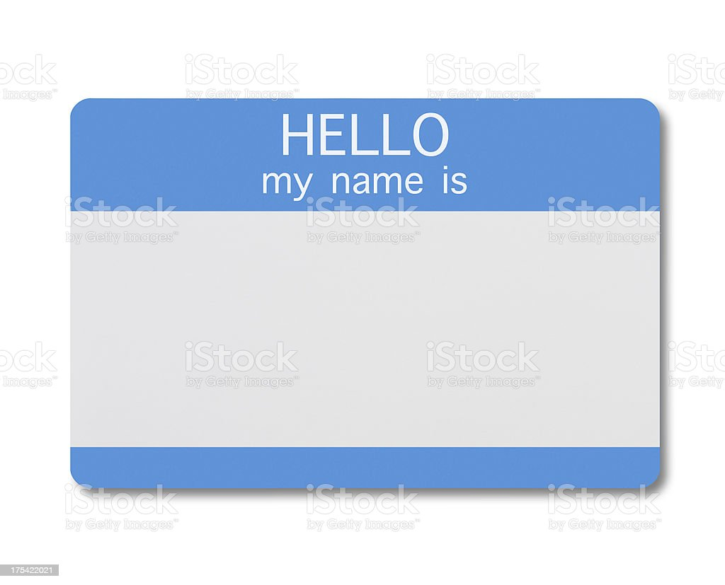 Name Tag royalty-free stock photo