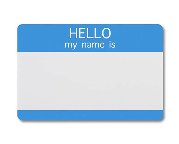 namensschild - hello stock-fotos und bilder