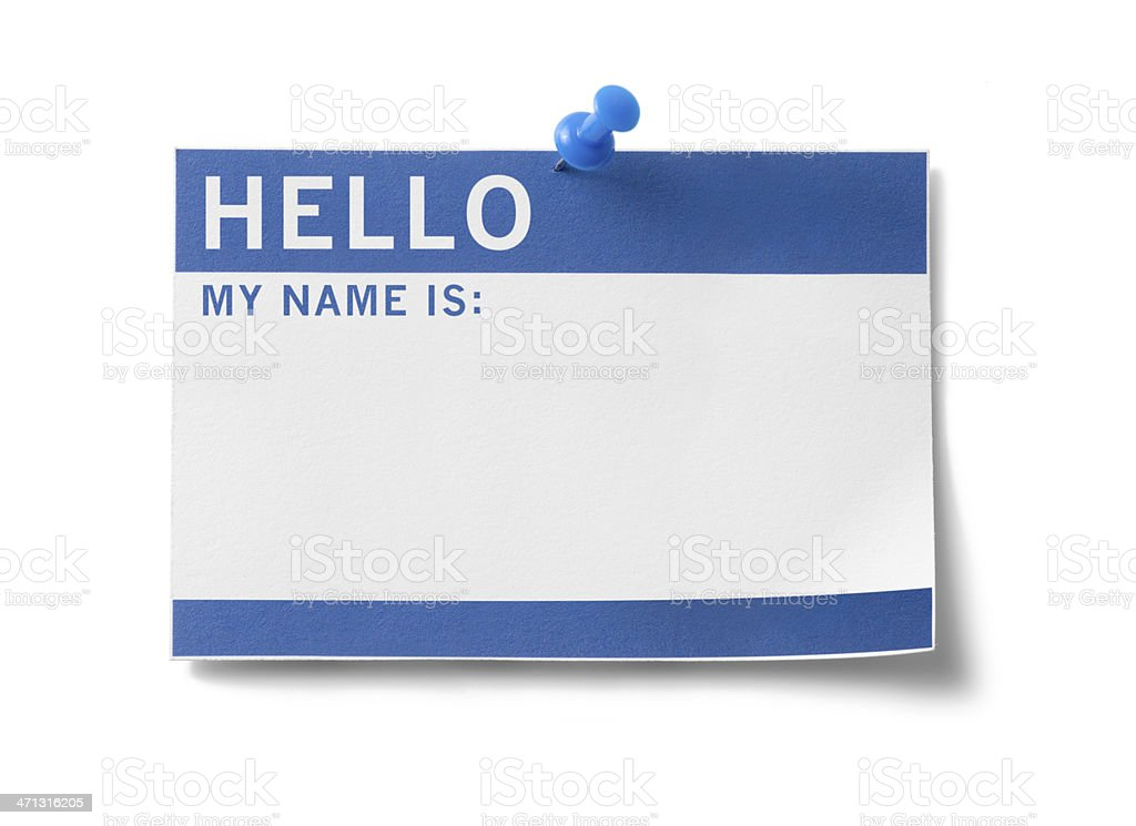 Name Tag (with clipping paths) royalty-free stock photo