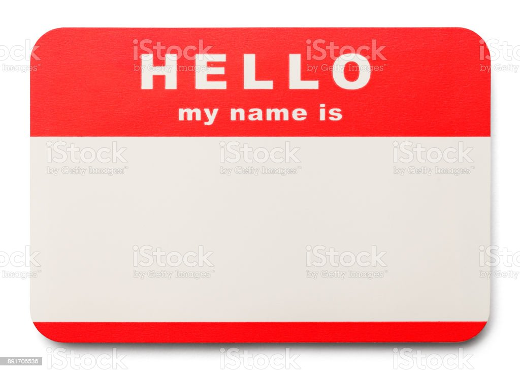 Name Tag - foto stock