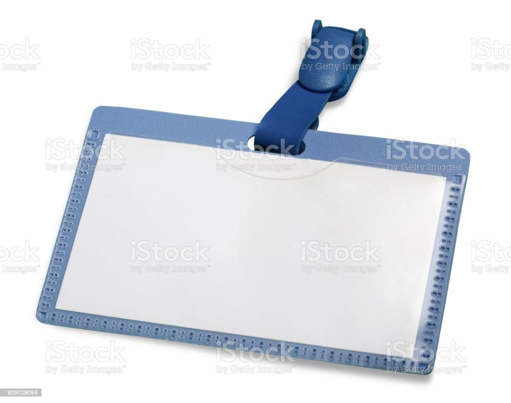Name tag. stock photo