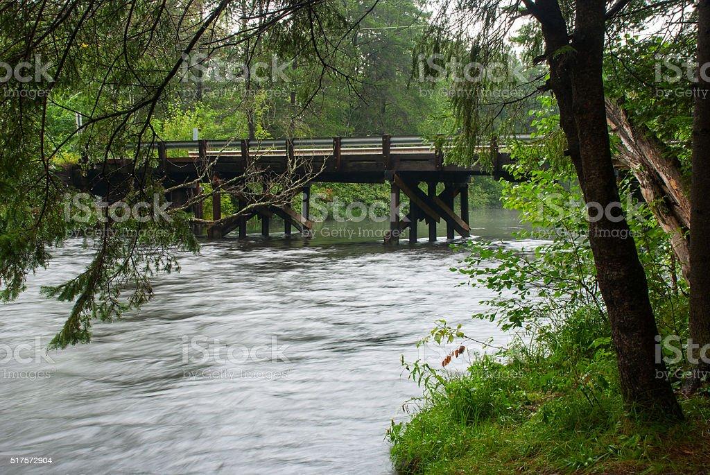 Namekagon River near KOA camping, WI stock photo