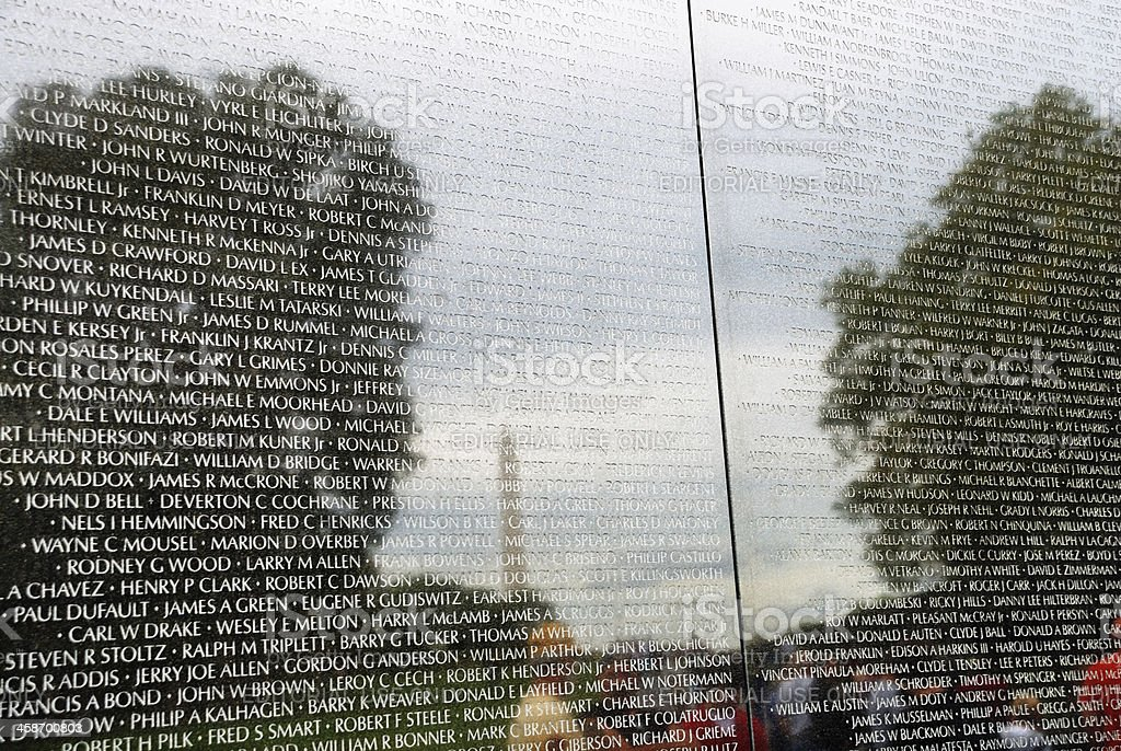 Names On The Vietnam War Memorial Wall Stock Photo Download Image Now Istock