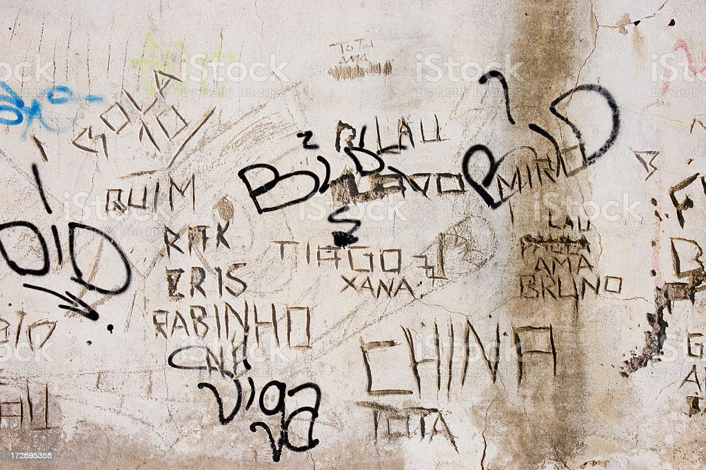 Names on wall royalty-free stock photo