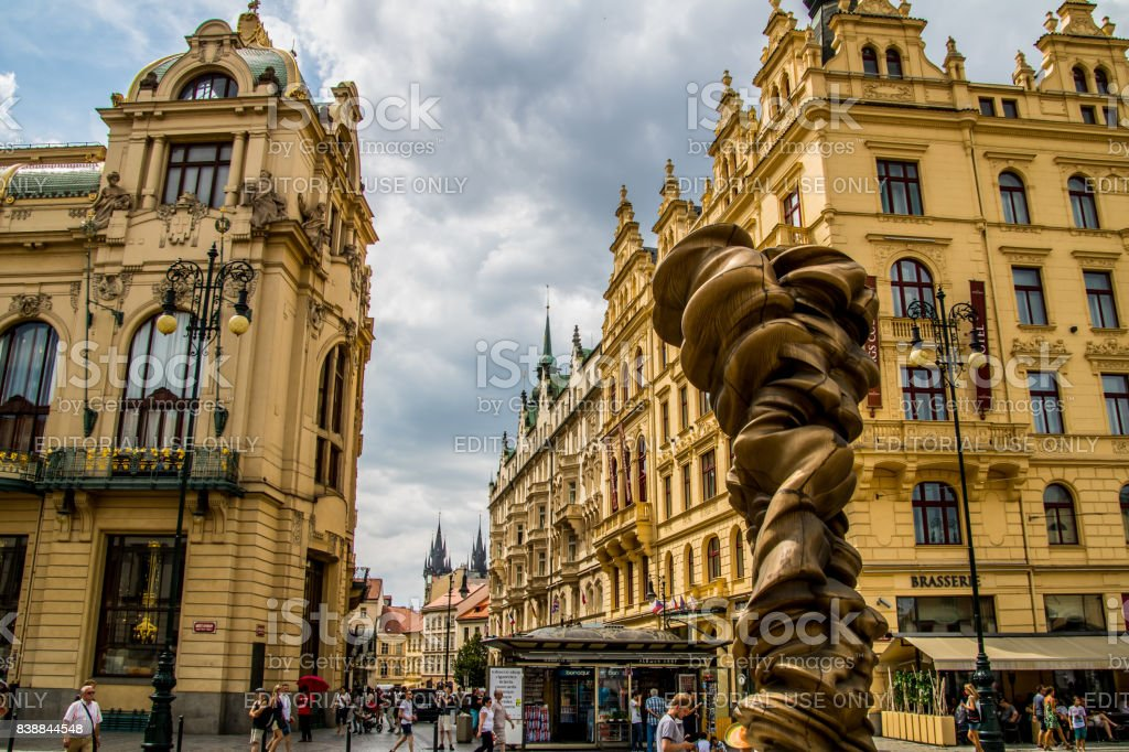 Namesti Republiky, Praha stock photo
