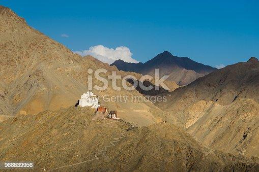 Namgail Tsemo monastery, landmark of Leh city, Ladakh, Jammu Kashmir, India, Asia