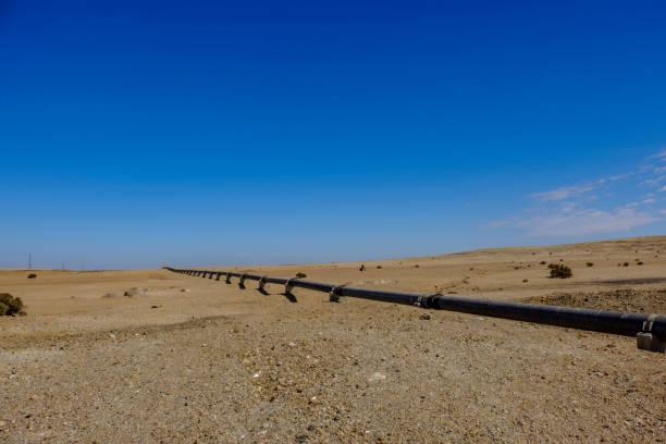 Namib Desert water pipe stock photo