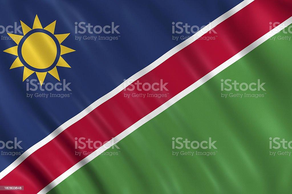 namibia flag royalty-free stock photo