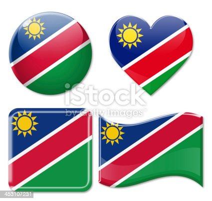 istock Namibia Flags & Icon Set 453107231