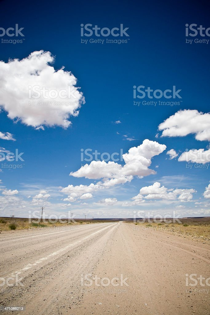 Namibia Road in the Desert royalty-free stock photo