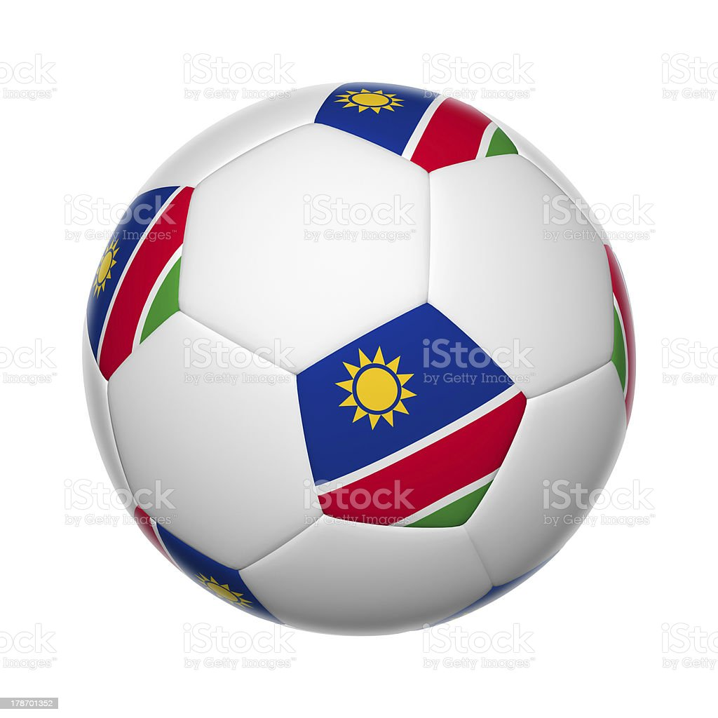 Namibia soccer ball stock photo