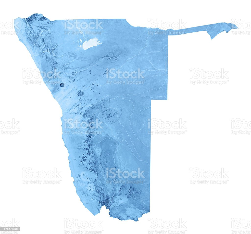 Namibia Topographic Map Isolated royalty-free stock photo