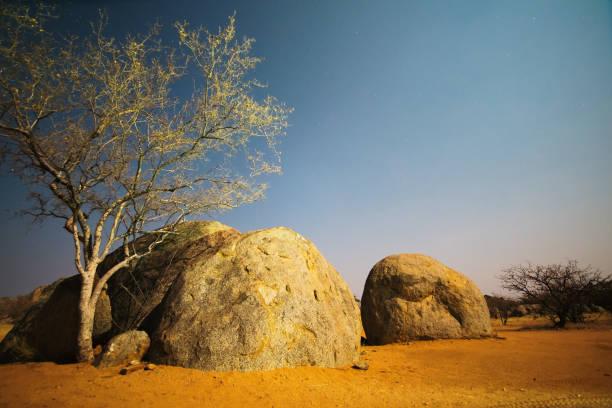 Namibische Wüste bei Nacht – Foto