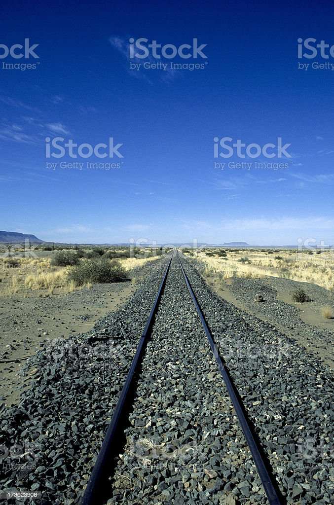 Namibian railway stock photo