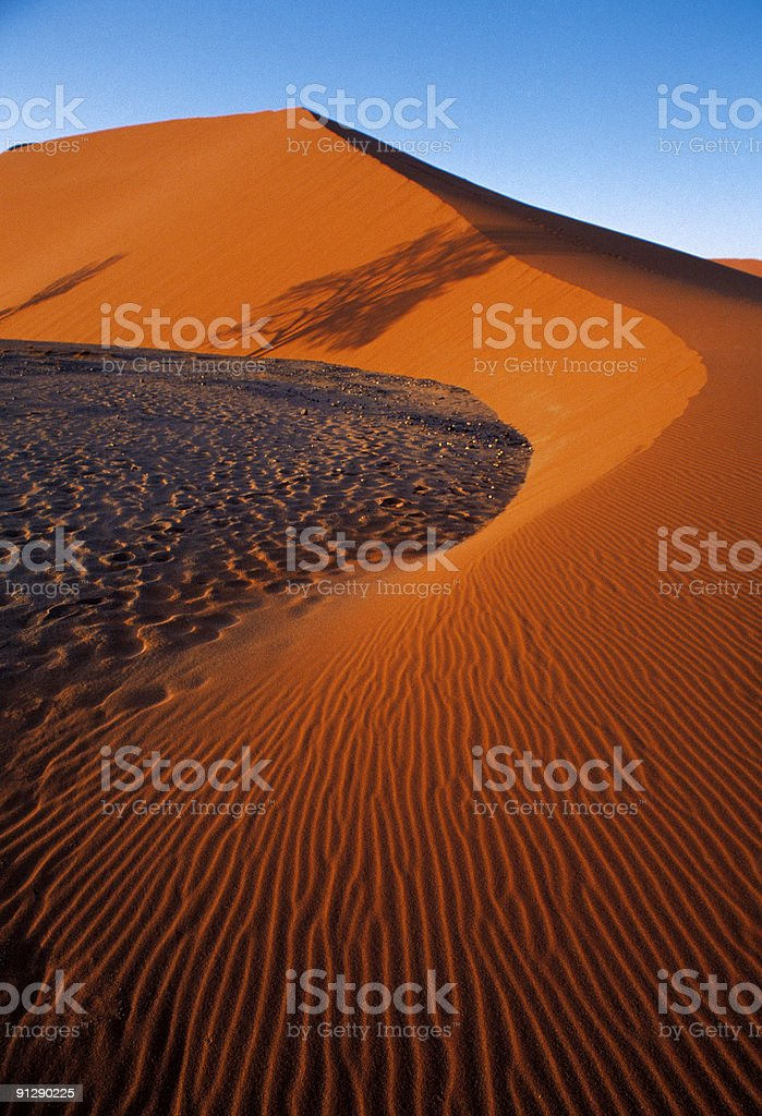Namibian Sandune royalty-free stock photo
