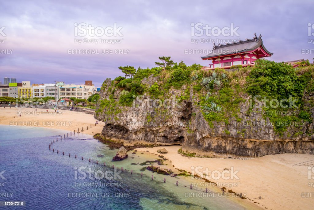 Naminoue Shrine in okinawa Landscape of Naminoue Shrine in okinawa, japan Above Stock Photo