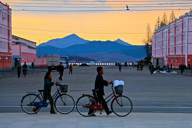 nampo, north korea - aleks66 stock pictures, royalty-free photos & images